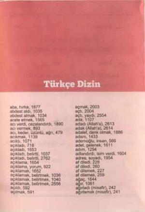 Alfabetik Arapça Türkçe İmam Hatip Sözlüğü