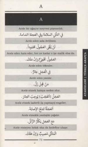 Modern Arap Dilinde Atasözleri ve Deyimler Sıkça Kullanılan Kalıplar